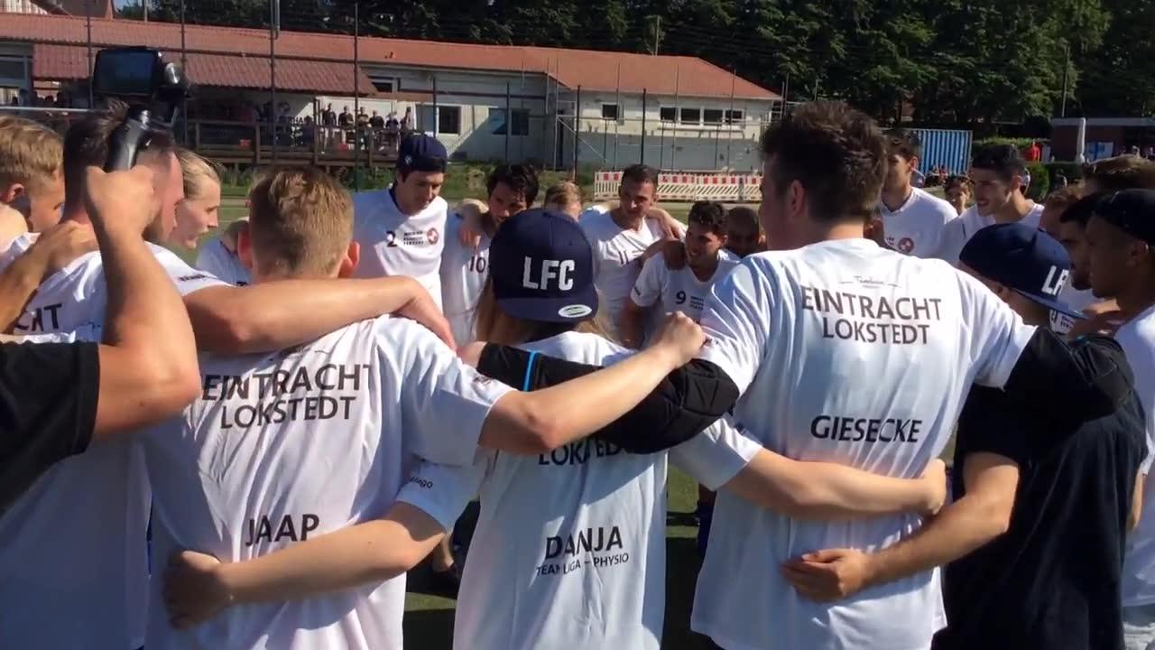 Eintracht Lokstedt feiert den Landesliga-Aufstieg